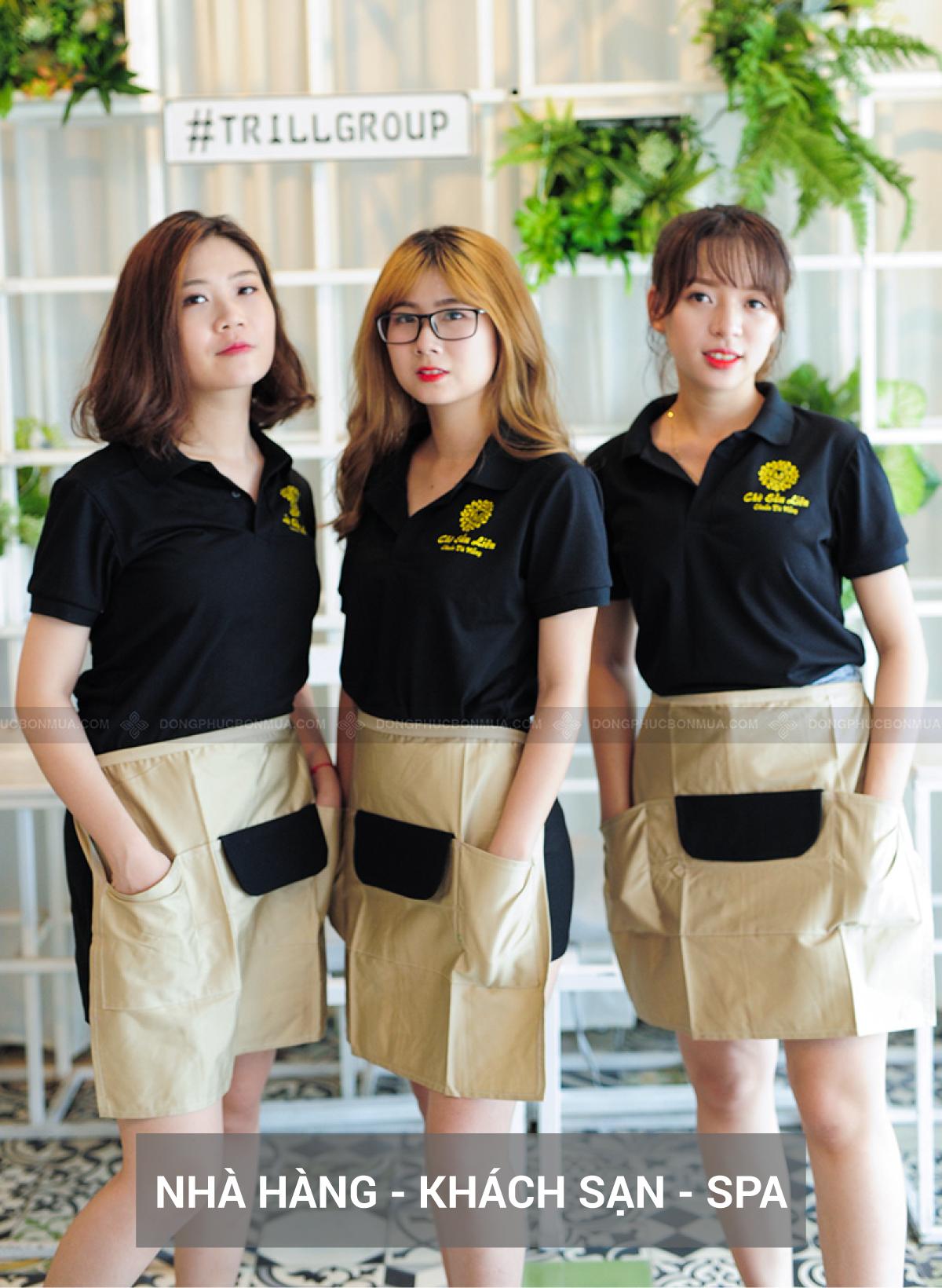 Đồng phục mang đến sự chuyên nghiệp cho đội ngũ nhân viên.