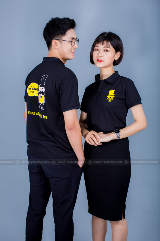 Sắc đen sang trọng của đồng phục.